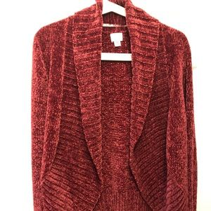 Target New without Tags Raspberry Red Cardigan